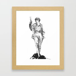 "Vintage Illustration ""Outdoor Sportswoman""  Framed Art Print"