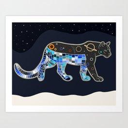 Space Cougar Art Print