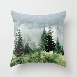 Pine Trees 2 Throw Pillow
