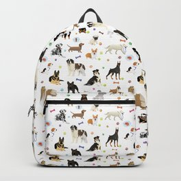 Various Dogs Pattern Backpack