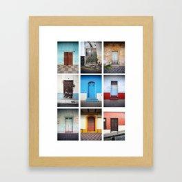 Spanish speaking doors Framed Art Print