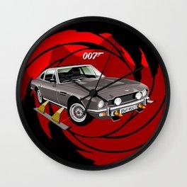 James Bond Aston Martin AM V8 from The Living Daylights Wall Clock