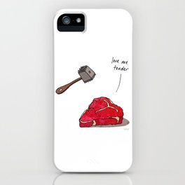 Love Me Tender iPhone Case