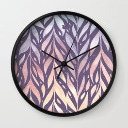 Watercolour Leaf VI Wall Clock