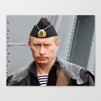 putin Canvas Prints featuring Putin seaman. by Mikhail Zhirnov