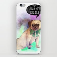 Pugs and kisses iPhone & iPod Skin