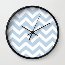 Pale aqua - heavenly color - Zigzag Chevron Pattern Wall Clock