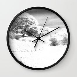 Haresfield In The Snow Wall Clock