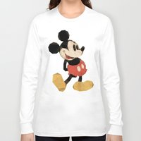 mickey Long Sleeve T-shirts featuring Mr. Mickey Mouse by Ed Burczyk