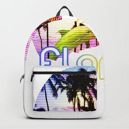 Florida Dolphins product Retro Florida Sunset Beach Souvenir Backpack