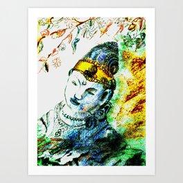 the golden ribbon  Art Print