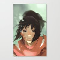 chihiro Canvas Prints featuring Chihiro by MMCoconut