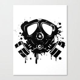 Gas mask graffiti Canvas Print