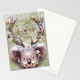 KOALA BEAR HORNS UP Stationery Cards