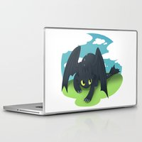 toothless Laptop & iPad Skins featuring toothless by tsurime
