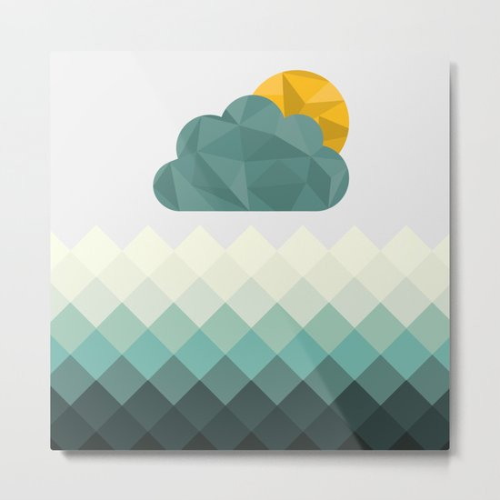 Sea Polygons Metal Print