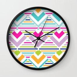 Bright Stripes Abstract Wall Clock