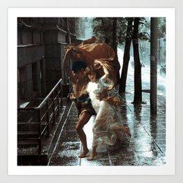 Rain Lovers Art Print