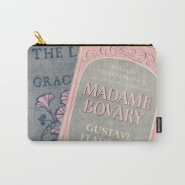Pink and Gray Books Carry-All Pouch