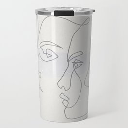 0ne line Profiles Travel Mug