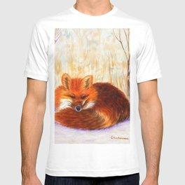 Red fox small nap   Renard roux petite sieste T-shirt