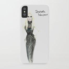 Donatella portrait iPhone Case