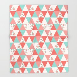 Triangle quilt pattern cute florals dots cheater quilt blanket quilter must have cute baby shower  Throw Blanket