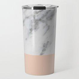 Marble and Blush Pink Travel Mug