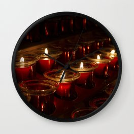 Prayer Candles With a Shallow Depth of Field Wall Clock
