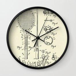 Tennis Racket-1948 Wall Clock