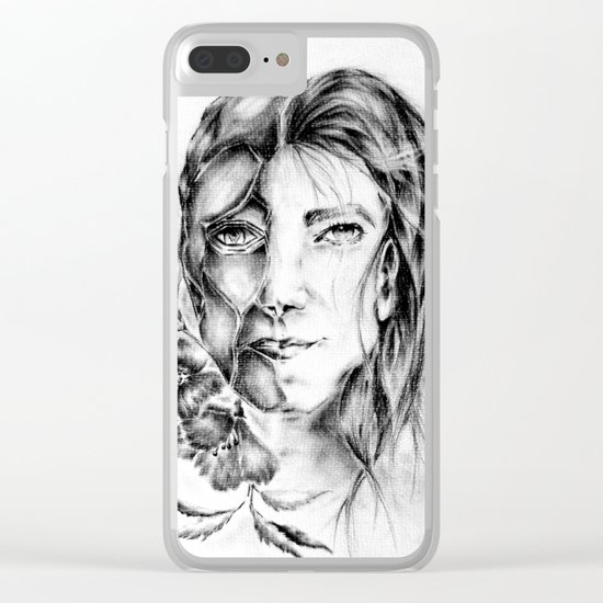 Drop the mask Clear iPhone Case