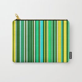 GREEN SPRING STRIPES Carry-All Pouch