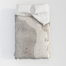 Feels: a neutral, textured, abstract piece in whites by Alyssa Hamilton Art Comforters