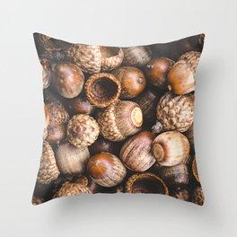Squirrel Harvest Throw Pillow