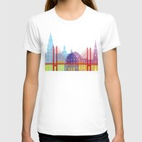 copenhagen T-shirts featuring Copenhagen skyline pop by Paulrommer