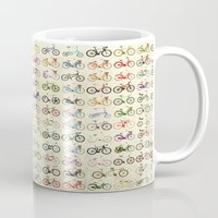bikes Mugs featuring Bikes by Wyatt Design