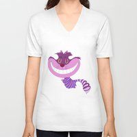 cheshire cat V-neck T-shirts featuring Cheshire by Rod Perich