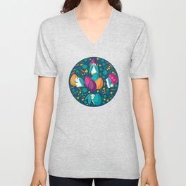 Busy Easter Bunnies Unisex V-Neck