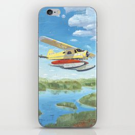 float plane - by phil art guy iPhone Skin