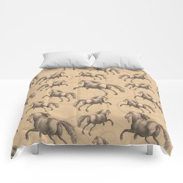 Galloping Spanish Horses Comforters