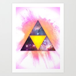 Cosmic Triforce Art Print