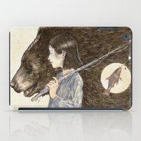 fishing iPad Cases featuring Fishing by natalieruka