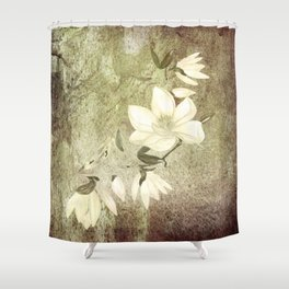 Magnolia Blossoms Textured Shower Curtain