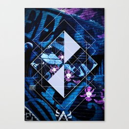 Graffiti Collages Canvas Print