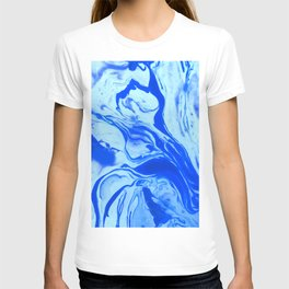 Teal watercolor marble T-shirt