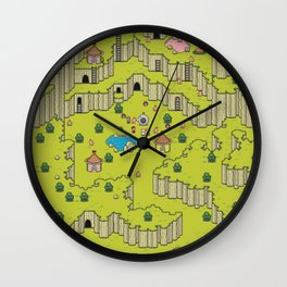 Earthbound Saturn Valley Wall Clock