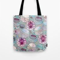 biology Tote Bags featuring Cell Balls by Klara Acel