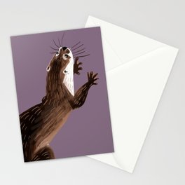 Asian small-clawed otter (Grapeade) Stationery Cards