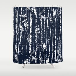 Texture night forest  Shower Curtain