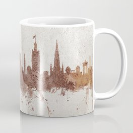 Edinburgh Scotland Rust Skyline Coffee Mug